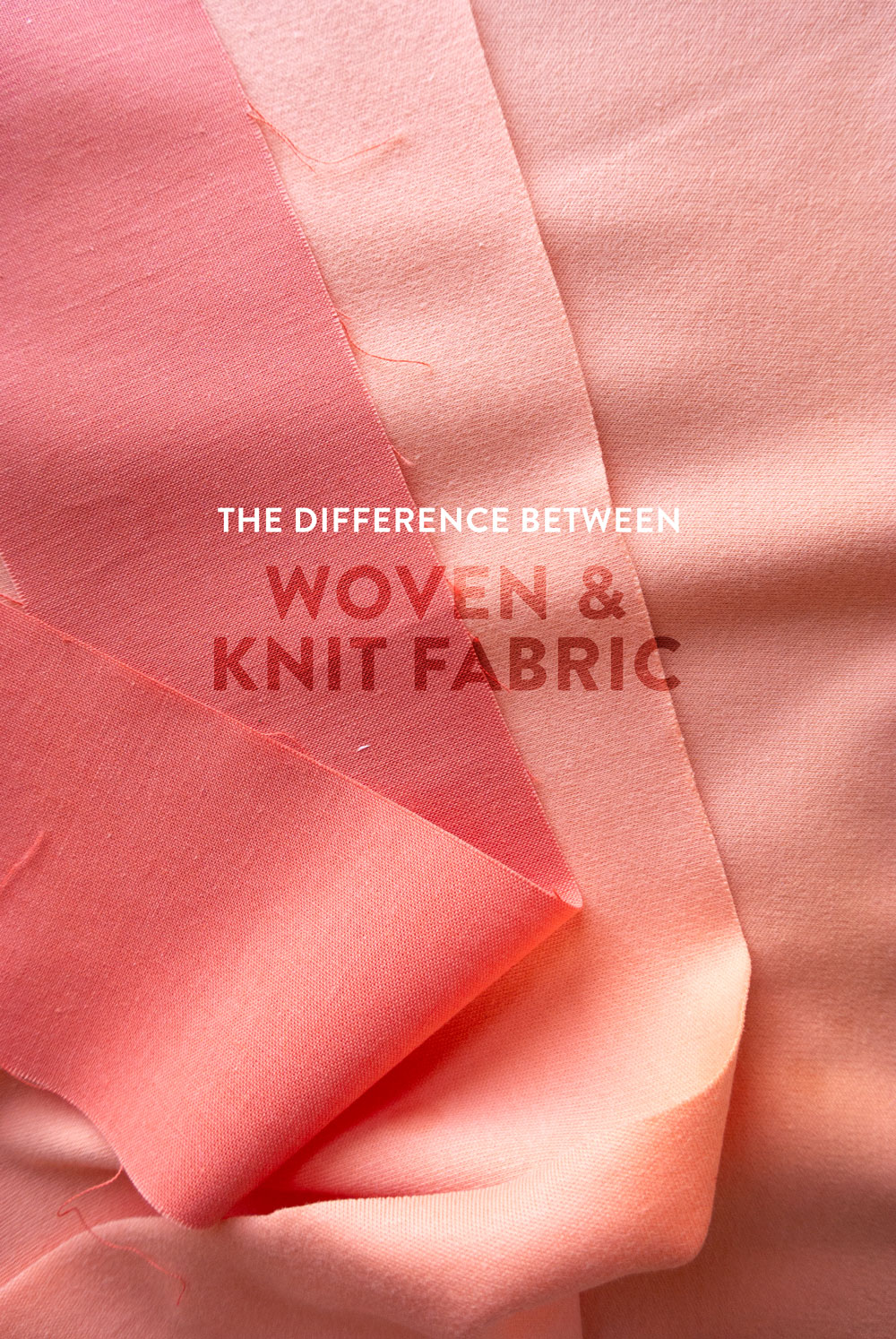Quilting with knits is not hard, there are just some tricks and tips to know. Learn all about how to sew with knits and what the differences are between woven and knit fabrics. | Suzy Quilts