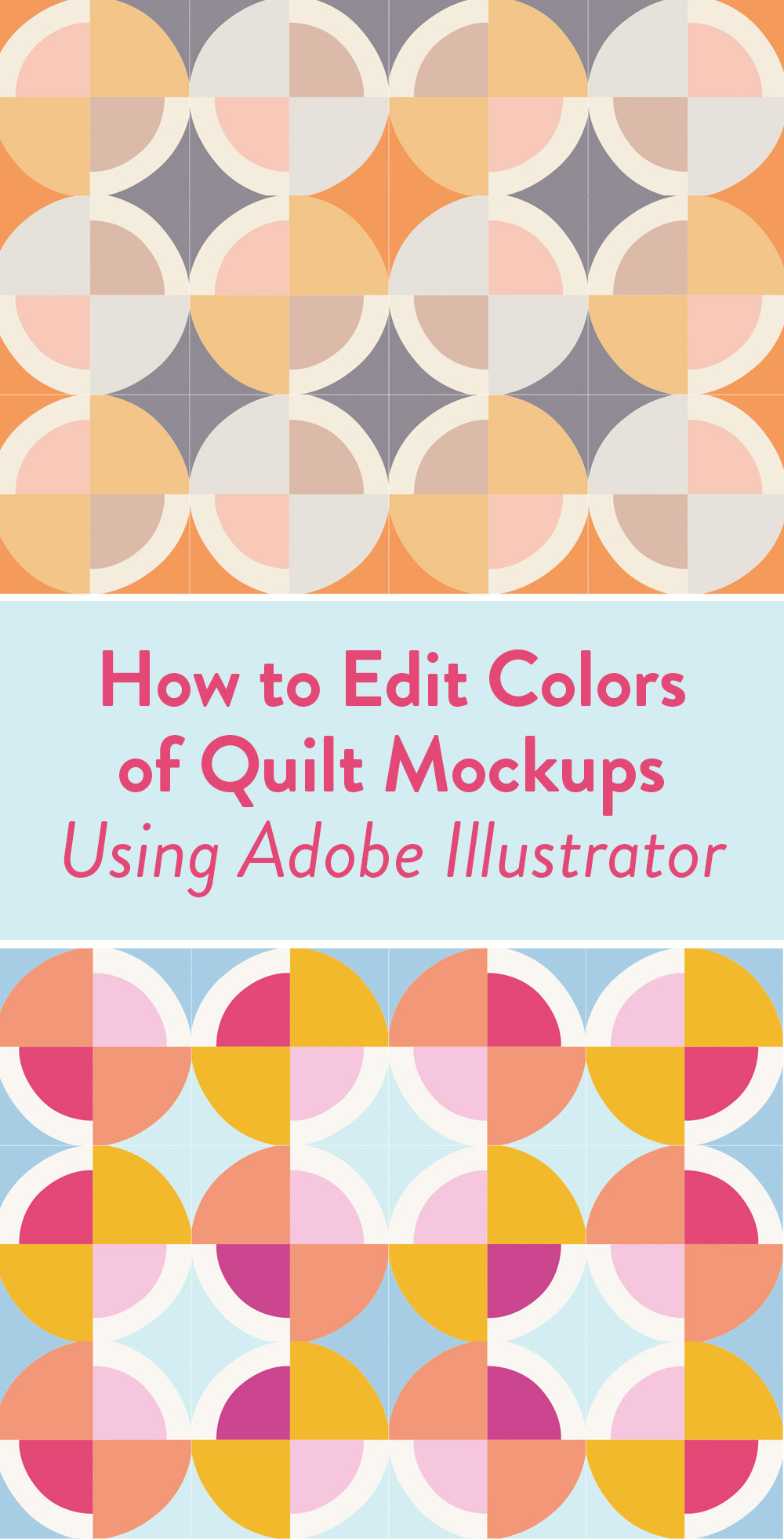 If you are a planner, or maybe have trouble picking fabrics for a quilt, check out this video tutorial showing you how to edit digital quilt mockups to test out various colors and swatches. This is an Adobe Illustrator tutorial. | Suzy Quilts