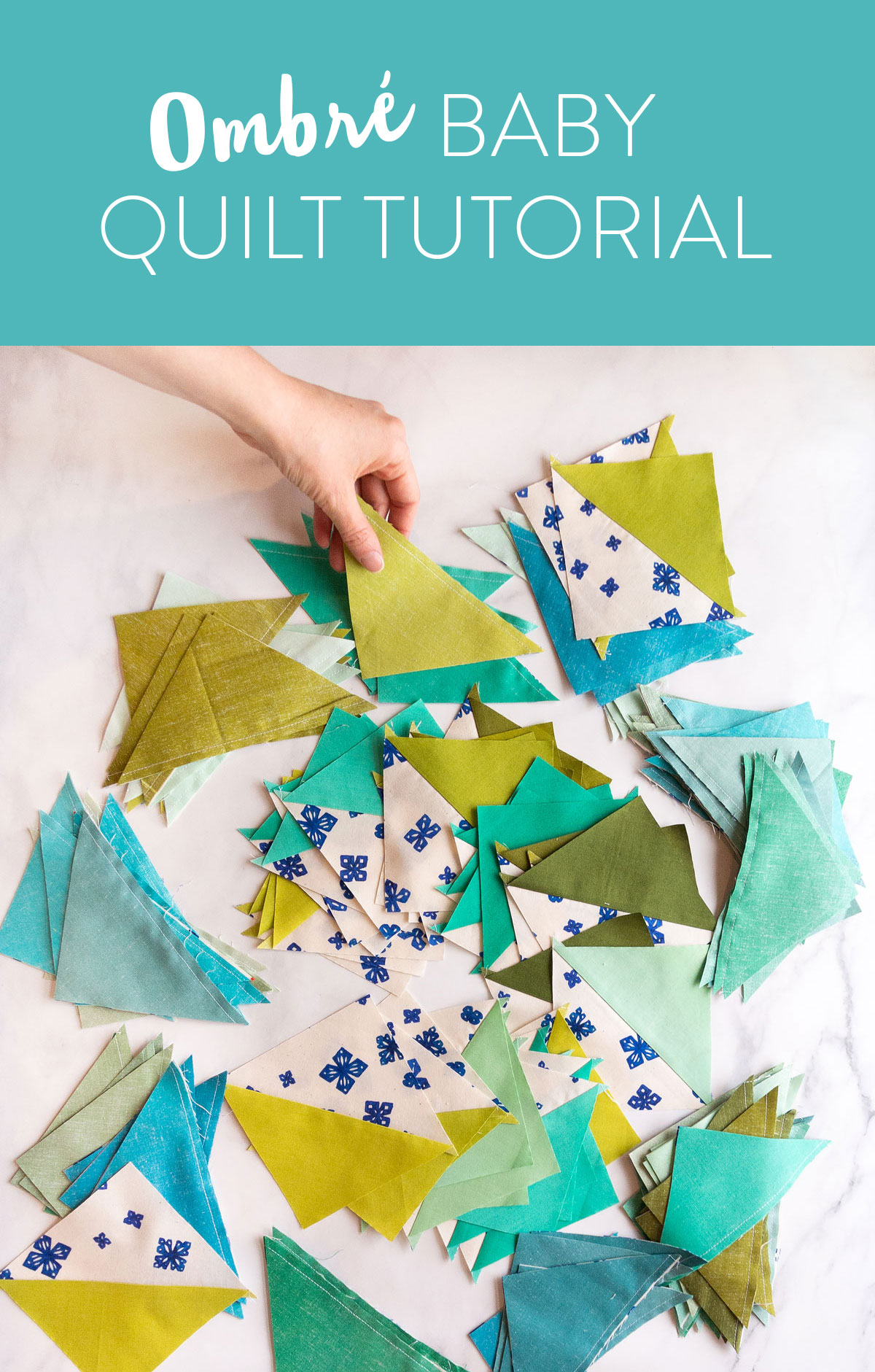 Make a Triangle Jitters quilt with 8 fat quarters! This is a beginner-friendly half square triangle pattern. Discover how to achieve this ombré effect with the exact fabrics I used! Suzy Quilts - https://suzyquilts.com/make-a-triangle-jitters-quilt-with-8-fat-quarters