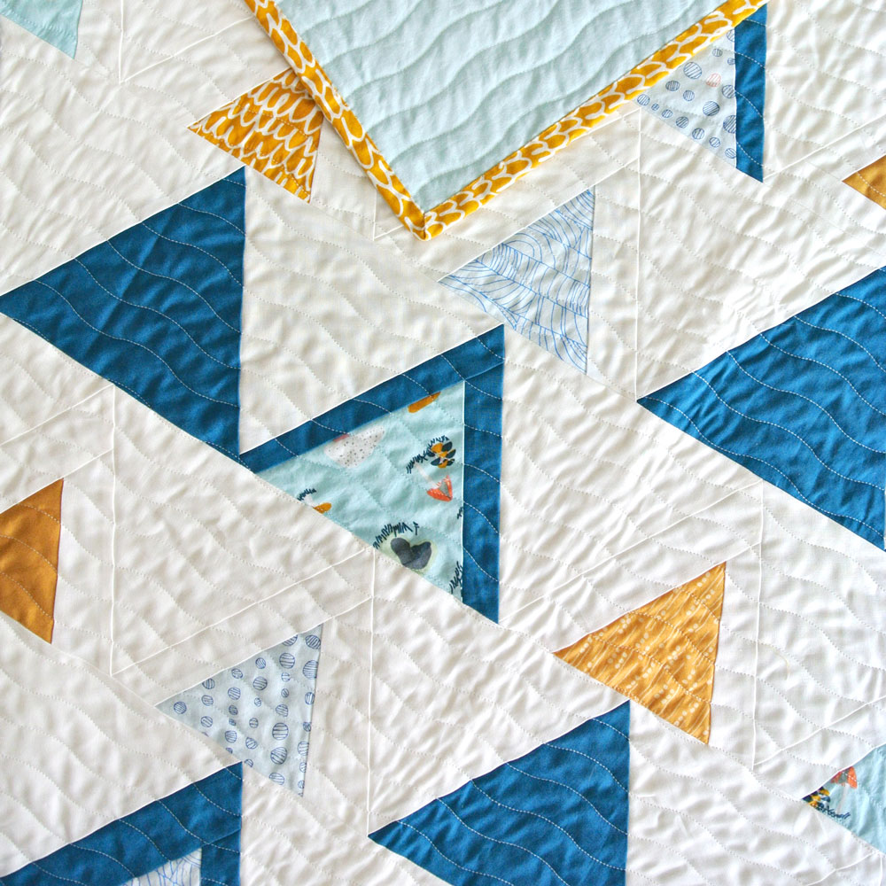 Baby Quilt Patterns.Mod Mountains Quilt Pattern Download Suzy Quilts