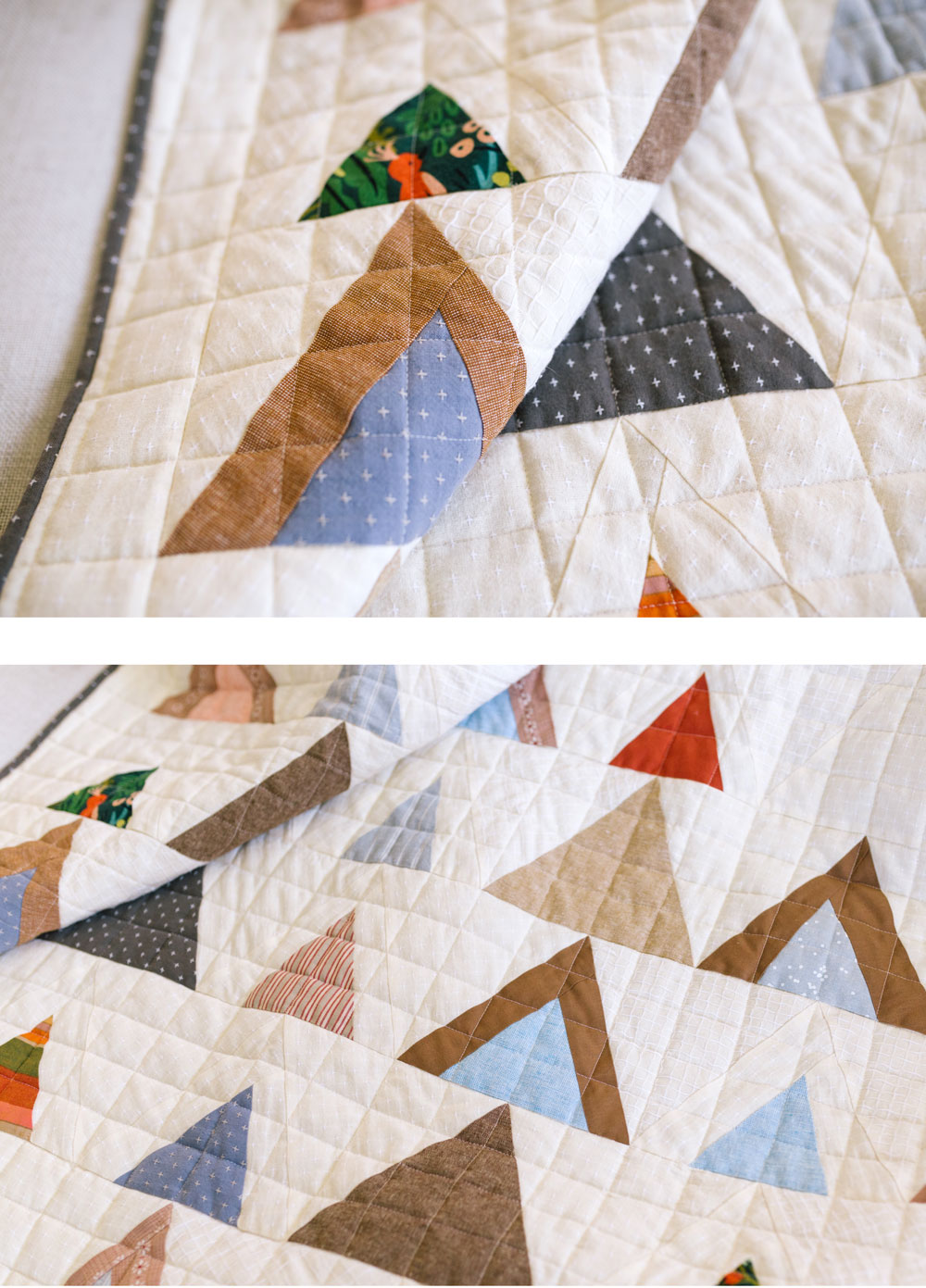 Join the Mod Mountains quilt pattern sew along! Learn new quilting skills and win weekly prizes as an online sewing community.