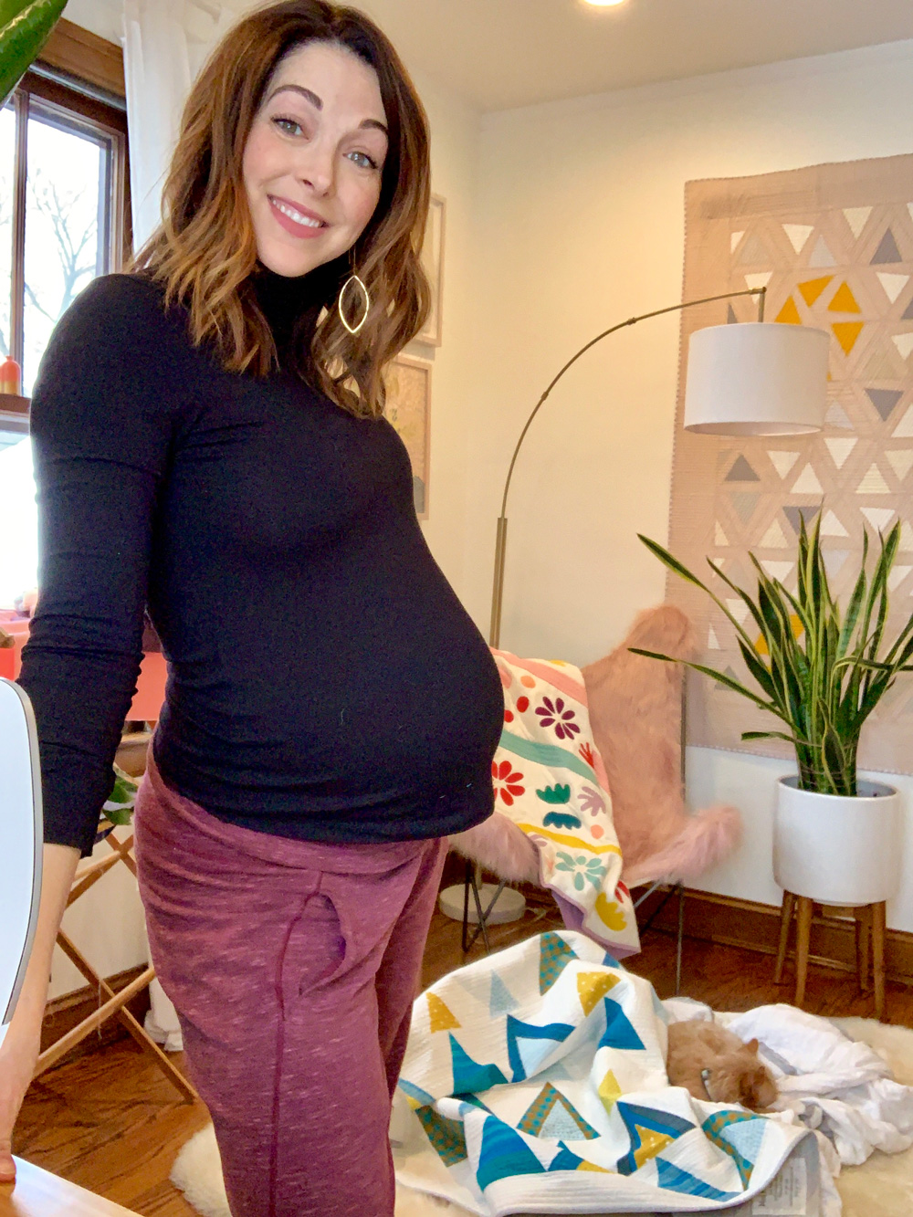 pregnant quilter