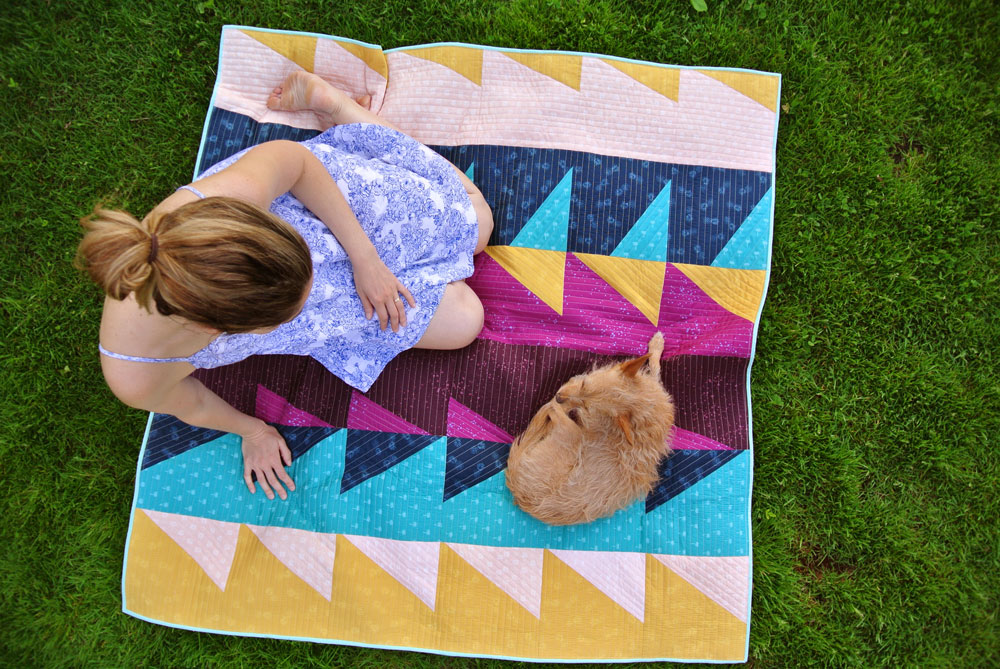Bamboo batting is the perfect summer quilt batting! It's lightweight, strong, breathable and has a beautifully soft drape. | Suzy Quilts - https://suzyquilts.com/why-bamboo-batting-makes-the-perfect-summer-quilt/