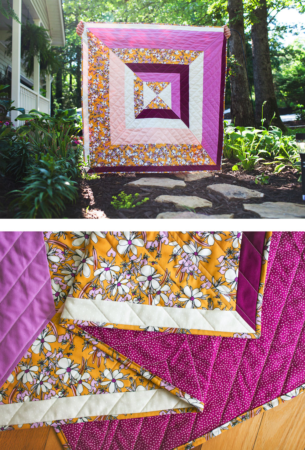 The Reflections Quilt Pattern: A Modern Strip Quilt - Suzy