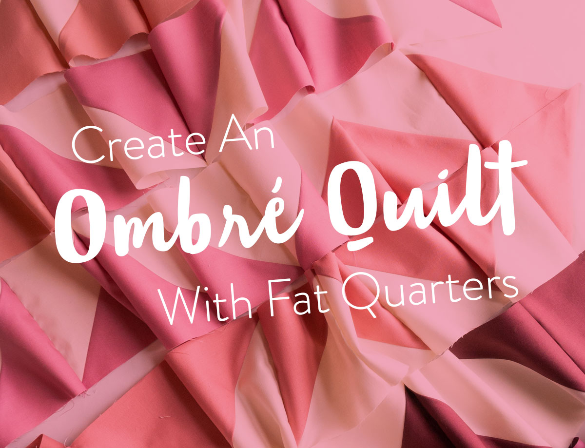 Change your favorite quilt pattern into an ombré quilt by converting yardage into fat quarters. Included is a half square triangle conversion chart and tutorial! | Suzy Quilts #halfsquaretriangle #modernquiltpattern #ombrequilt