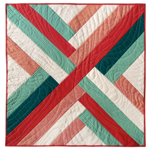 "The Maypole quilt wall hanging finishes at 30"" x 30"" and is the perfect, modern quilt design to warm up the walls of any room. Make one for each season!"