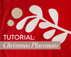 A Festive & FREE Christmas Placemats Tutorial