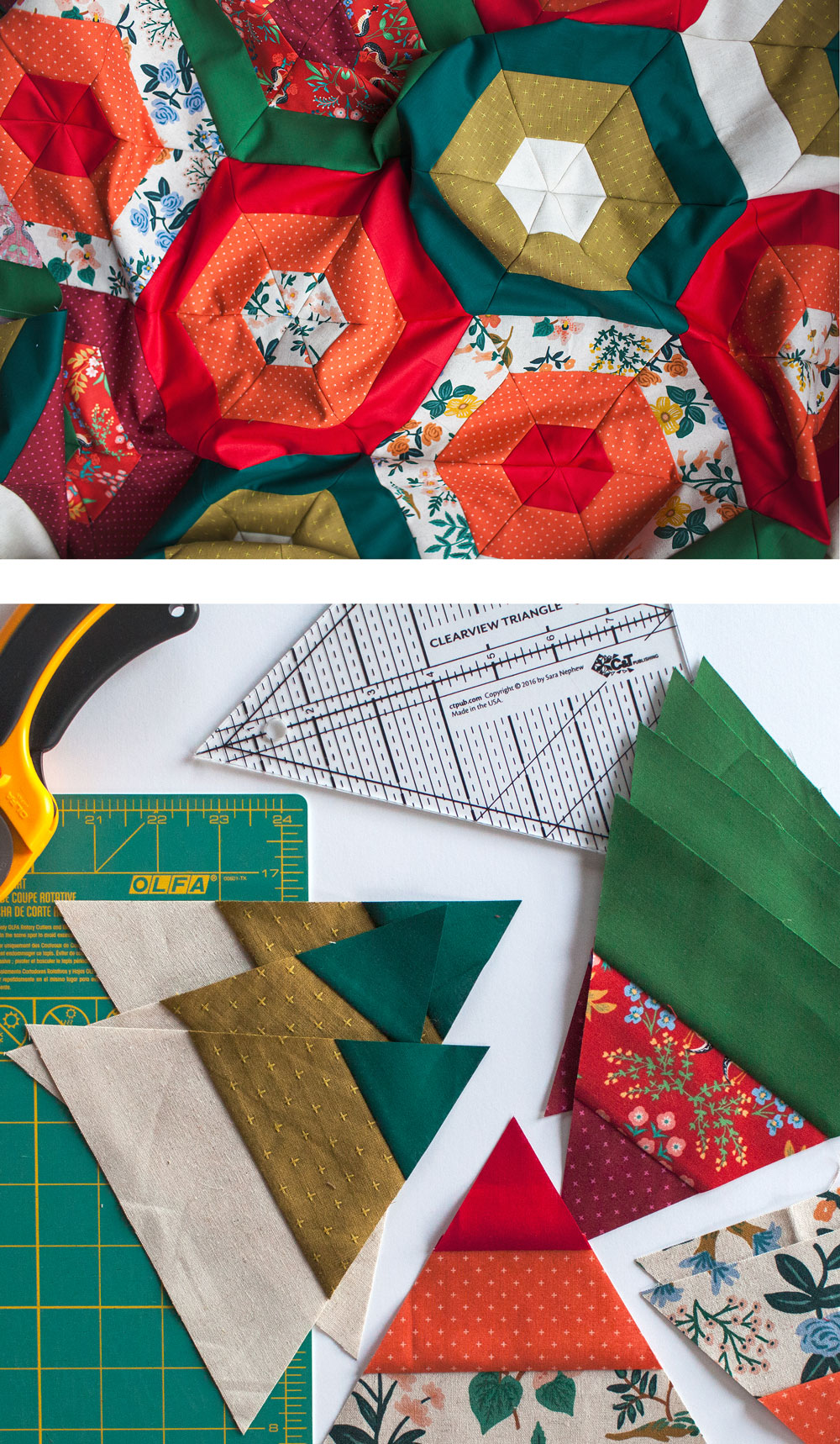 Christmas Quilting With The Hexie Stripe Pattern Suzy Quilts