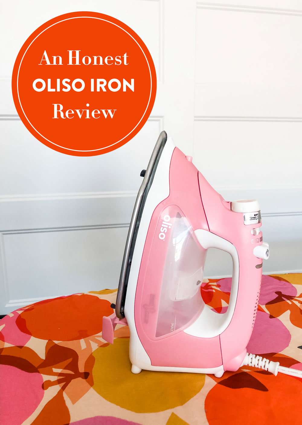 An honest review of the Oliso Iron. It's called a smart iron, but what makes it different than other irons? Is it the best iron for you? suzyquilts.com #sewingiron