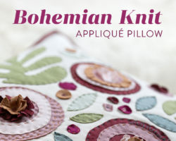 How to Make a Modern Appliqué Pillow With Knits