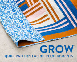 Grow Quilt Fabric Requirements