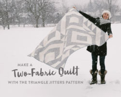 Make a Two-Fabric Quilt with the Triangle Jitters Quilt Pattern
