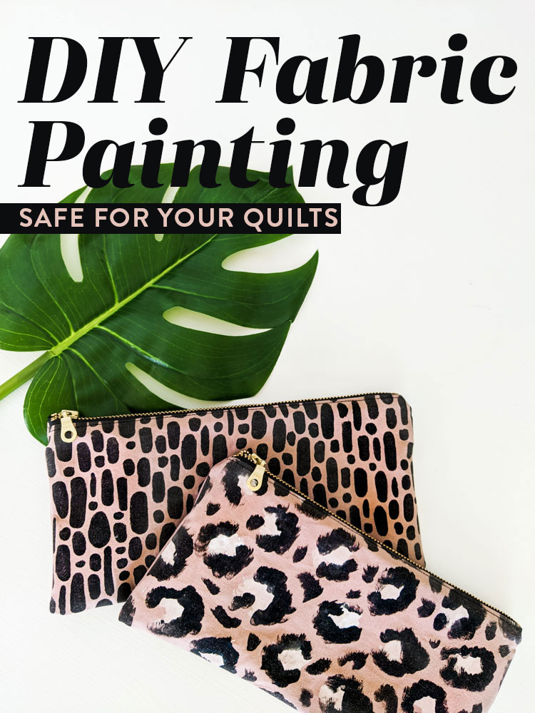 DIY Fabric Painting Tutorial that's quick, easy, and safe for your quilts! This can be a fun activity to do with your kids as well!