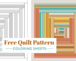Free Quilt Pattern Coloring Sheets: Print at Home!