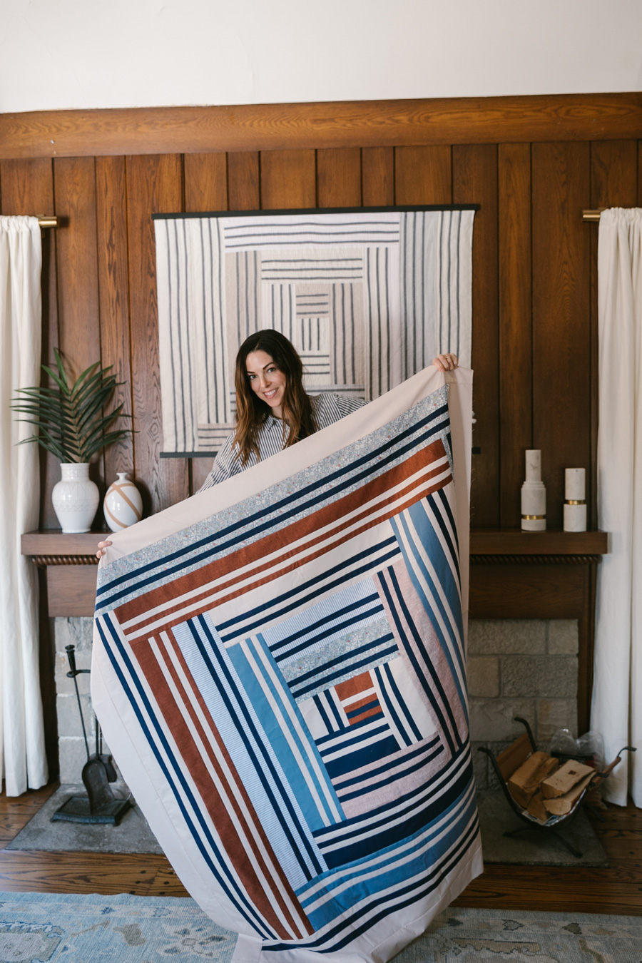 Join a fun community sew along! It is easy to participate. All you need is the Grow quilt pattern. Post your weekly progress as we make this quilt together for a chance to win prizes! suzyquilts.com #quiltalong #sewalong