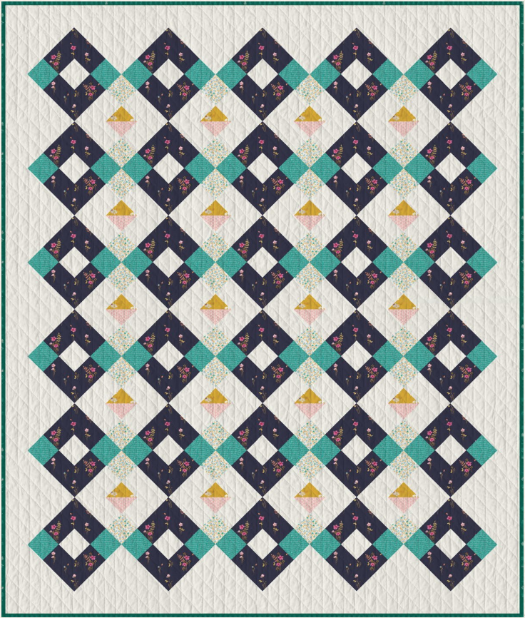 Get this free Arcade Free Quilt Pattern! Get this Free Diamant Quilt Pattern! A beginner friendly quilt pattern made only from strip piecing. suzyquilts.com