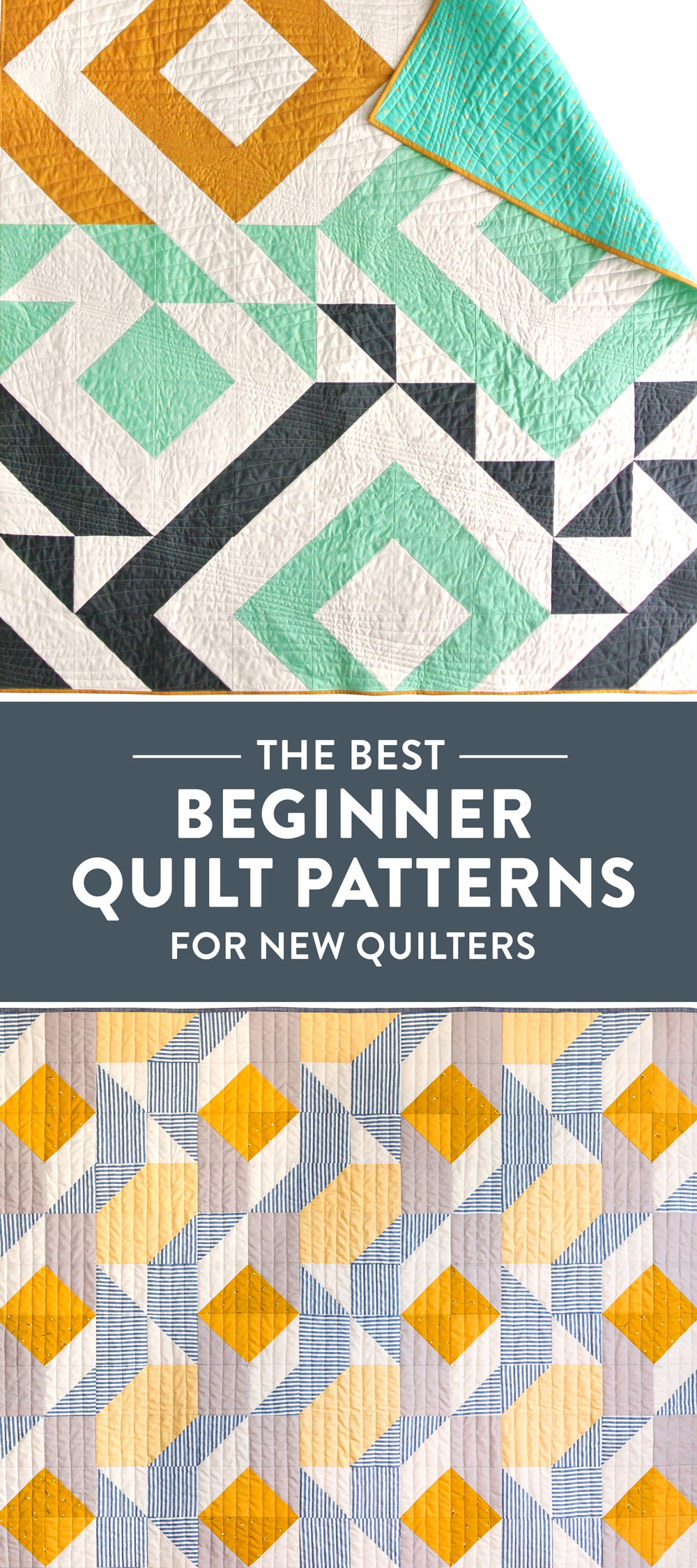 6 of the BEST beginner quilt patterns for new quilters! Jelly roll friendly, fat quarter friendly, scrap friendly – perfect for a newbie quilter. suzyquilts.com #quiltpattern #freequiltpattern