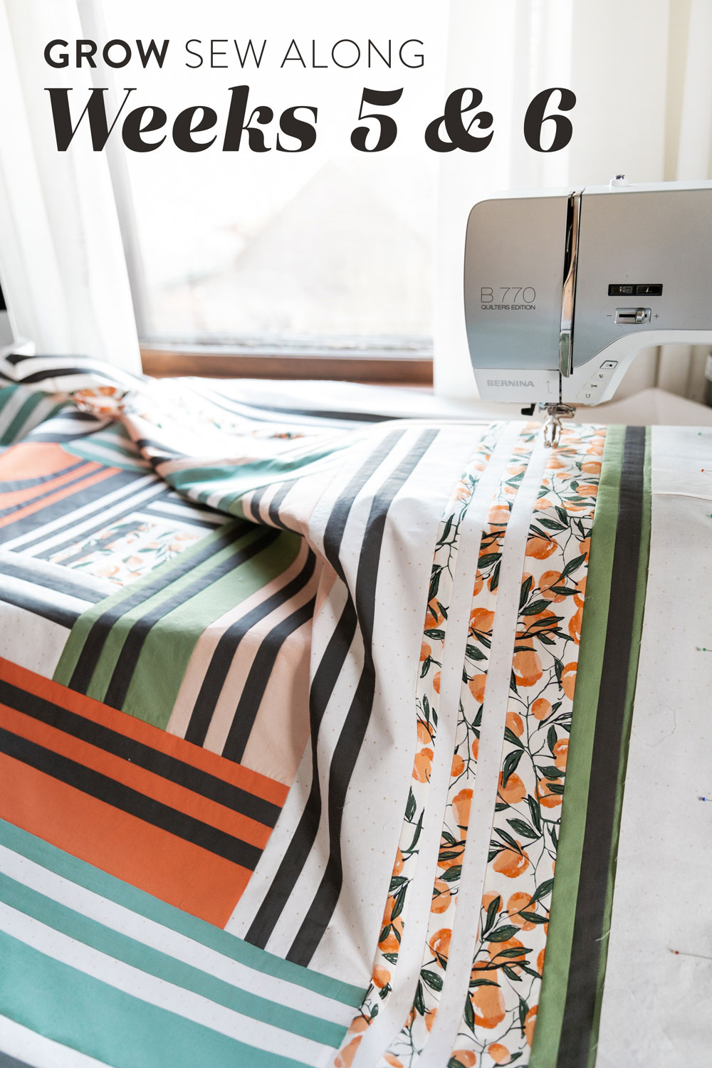 In Weeks 5 and 6 of the Grow quilt sew along we assemble the quilt top. Check out this video tutorial to show you how simple it is! suzyquilts.com #quilting #quiltpattern