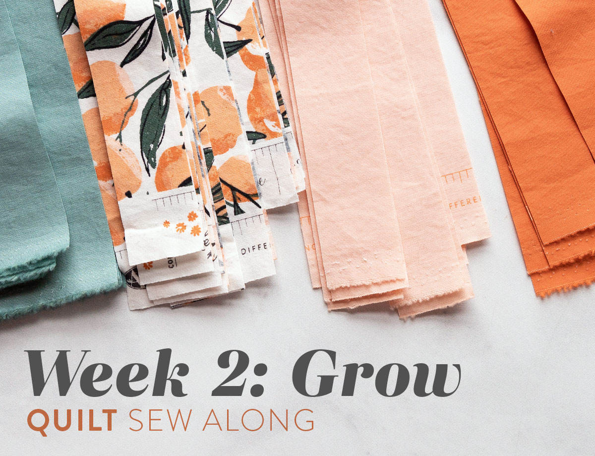 This week in the Grow quilt sew along we cut our fabric. I have a great tip to help you cut straight fabric strips! suzyquilts.com #quiltalong #sewalong