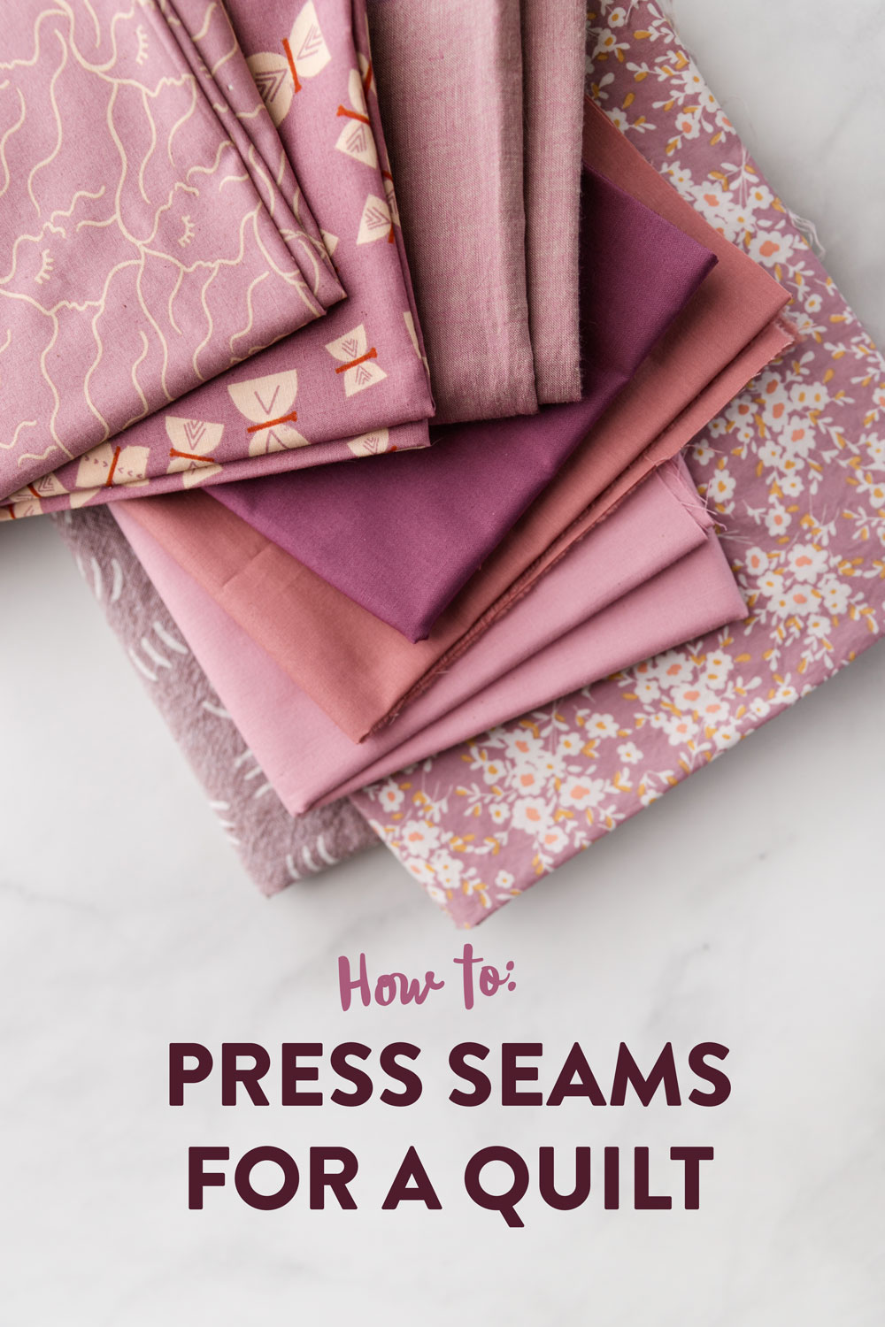 Learn how to press seams in a quilt. Included is a video tutorial and links to the best tools to use. suzyquilts.com #quilting