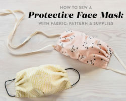 How to Sew a Protective Face Mask with Fabric