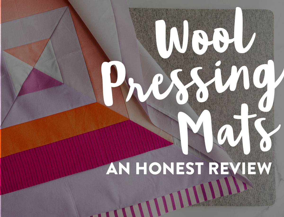 A wool pressing mat can be a wonderful tool in quilting. Portable, lightweight, and made of only natural fibers, these mats can also help iron fabric in half the time! suzyquilts.com #quilting #quiltingtools #sew
