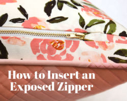 Tutorial: How to Insert an Exposed Zipper into a Pillow