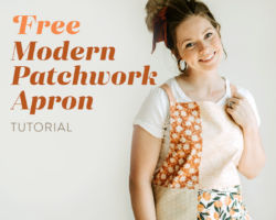 Free Modern Patchwork Apron Tutorial