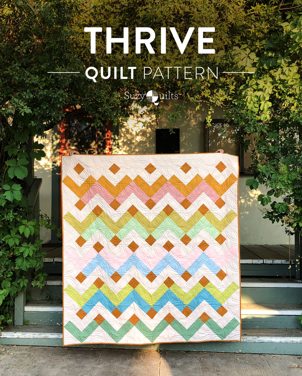 The Thrive quilt along includes lots of extra instruction, over 6 weeks, in sewing the fat quarter friendly throw-sized Thrive quilt. suzyquilts.com #purplequilt