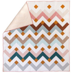 The Thrive quilt pattern is a digital PDF download. It includes king, queen/full, twin, throw and baby quilt sizes.