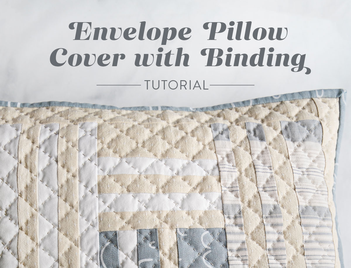 In this easy, beginner friendly quilting tutorial you will make a beautiful pillow with a simple envelope pillow cover. At the end there will be an option to finish the quilted pillow with binding | suzyquilts.com #pillowDIY