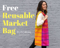 Free Reusable Market Bag Tutorial: Fat Quarter Friendly