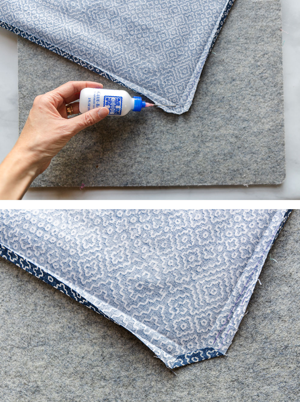 Learn how to sew a napkin in this beginner-friendly DIY cloth napkins tutorial. This fat quarter friendly sewing tutorial is incredibly fast and easy! suzyquilts.com #napkinstutorial #sewingdiy