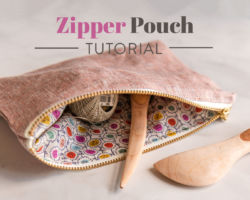 Zipper Pouch Tutorial: How to Sew a Simple Pouch from Scraps