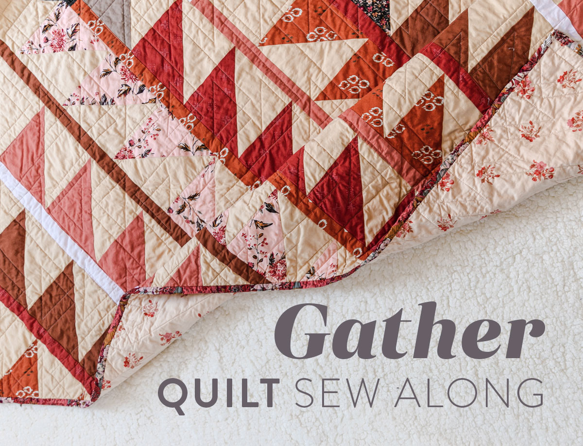 Join a fun sew along! It is easy to participate – all you need is the Gather quilt pattern so we make this quilt together! suzyquilts.com #quiltpattern #modernquilt