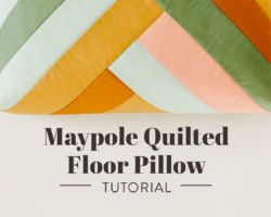 Maypole Quilted Floor Pillow Tutorial