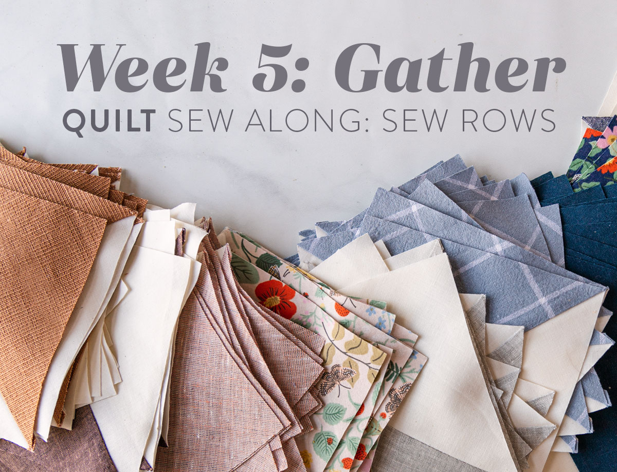 The Gather quilt sew along is an online quilting community experience! We will make this modern quilt pattern together – one week at a time. suzyquilts.com #quiltalong #quiltpattern