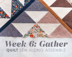 Gather Quilt Sew Along: Week 6: Assemble Top