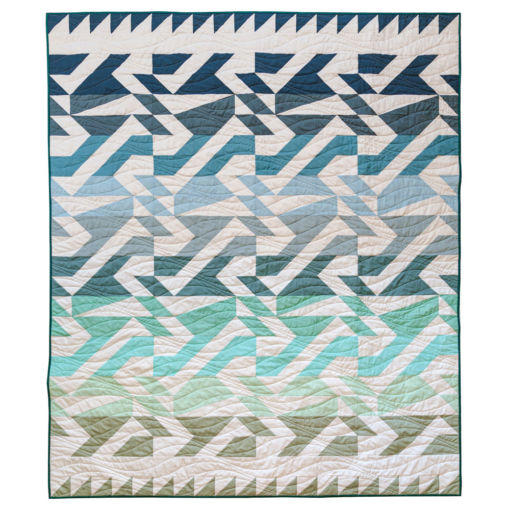 The Voyage quilt pattern is fat quarter friendly and a great quilt pattern for beginners! It includes king, queen, twin, throw and bay quilt sizes plus instructions for a two-color quilt version.