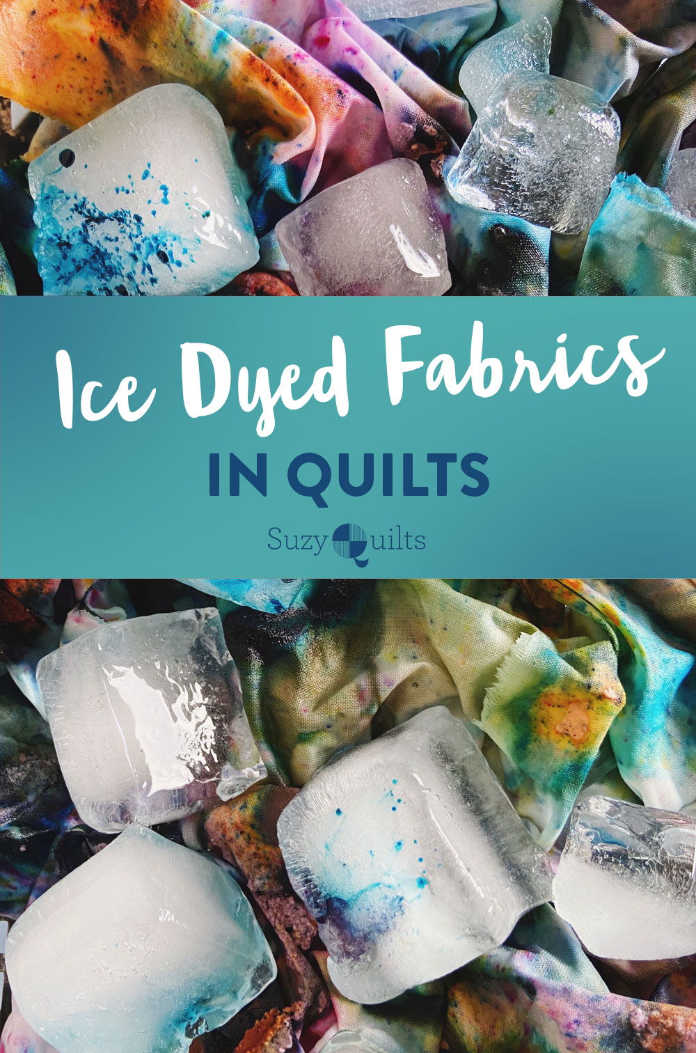 Learn all about ice dyeing from professional hand dyer Brooke Biette, who shares tips for using ice dyed fabrics in quilts, how to care for ice dyed fabrics, and what inspires her hand dye quilting fabric. suzyquilts.com #sewingdiy #quilting
