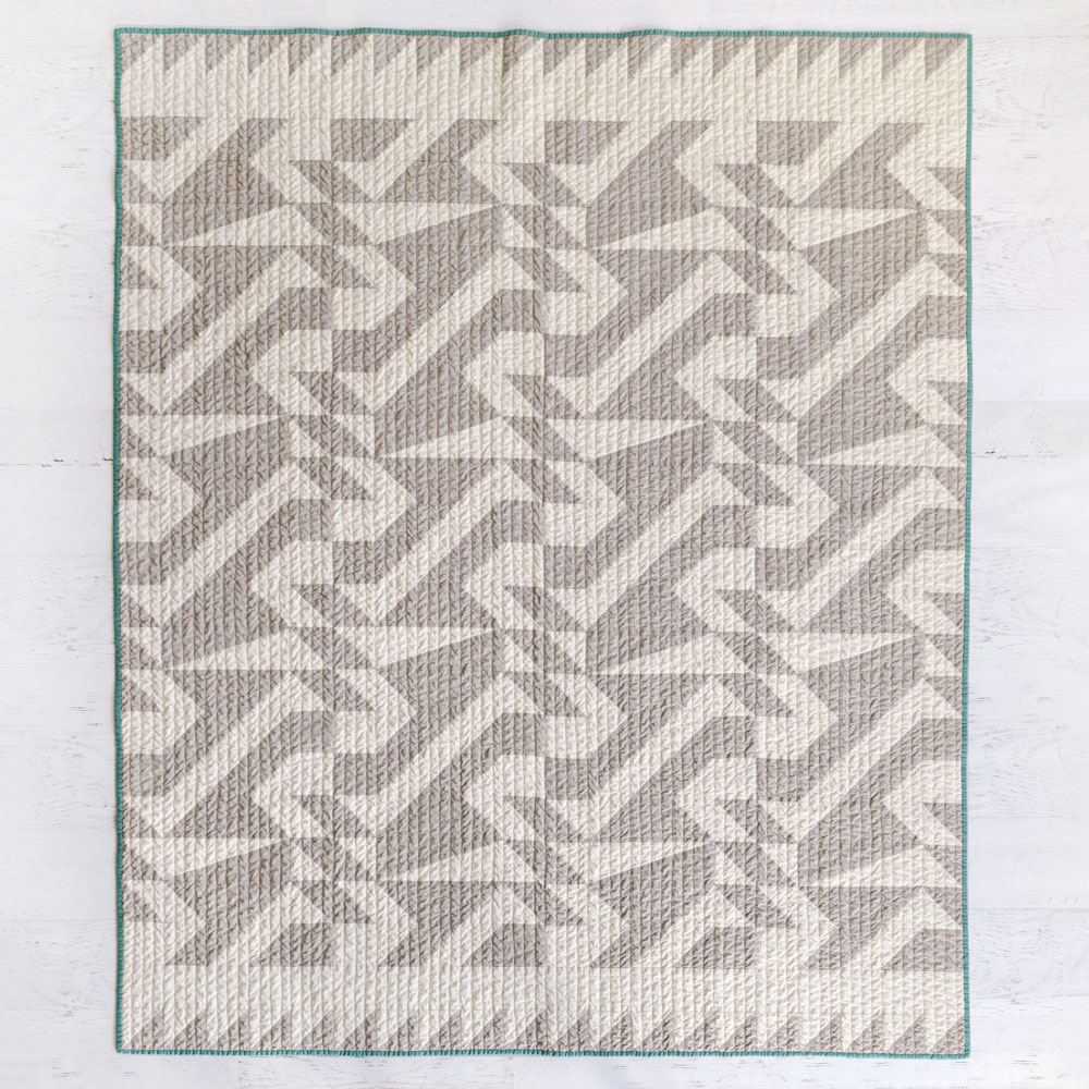 """Beautiful warm-toned fabric to make a 60"""" x 72"""" throw Voyage quilt. Made with 100% Art Gallery Fabrics PURE solids of the softest quality."""