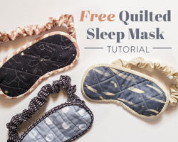 Free Quilted Sleep Mask Tutorial