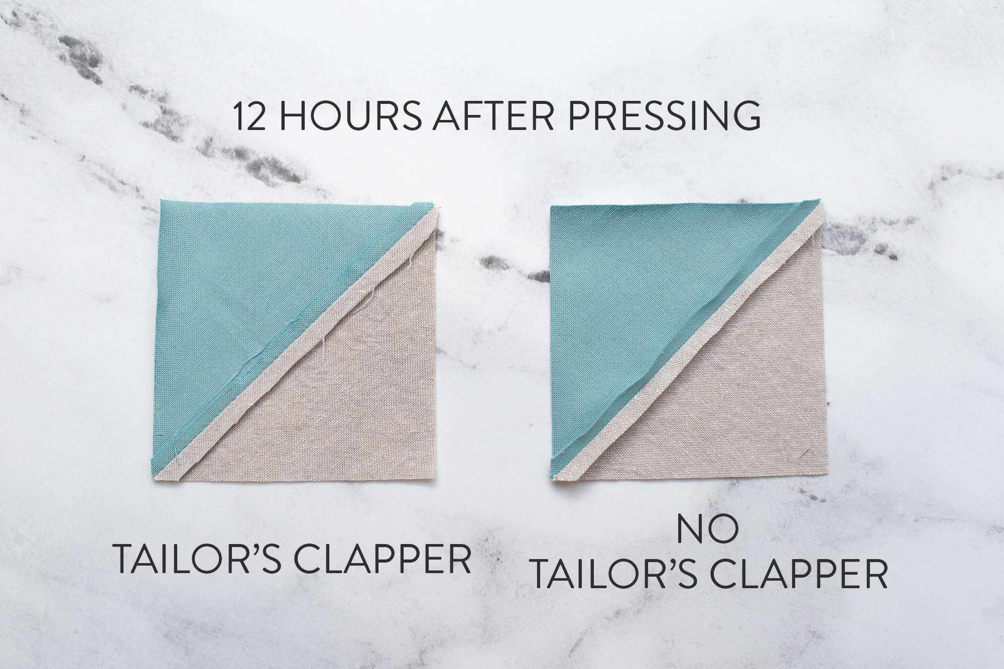 Getting flat seams in your quilts using a tailor's clapper can seem like magic. But it's actually science! Read this question and answer with a scientist and woodworker about how tailor's clapper work and why they leave your quilt seams looking crisp and sharp! suzyquilts.com #quilting #sewingdiy