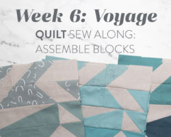 Voyage Quilt Sew Along Week 6: Assemble Blocks