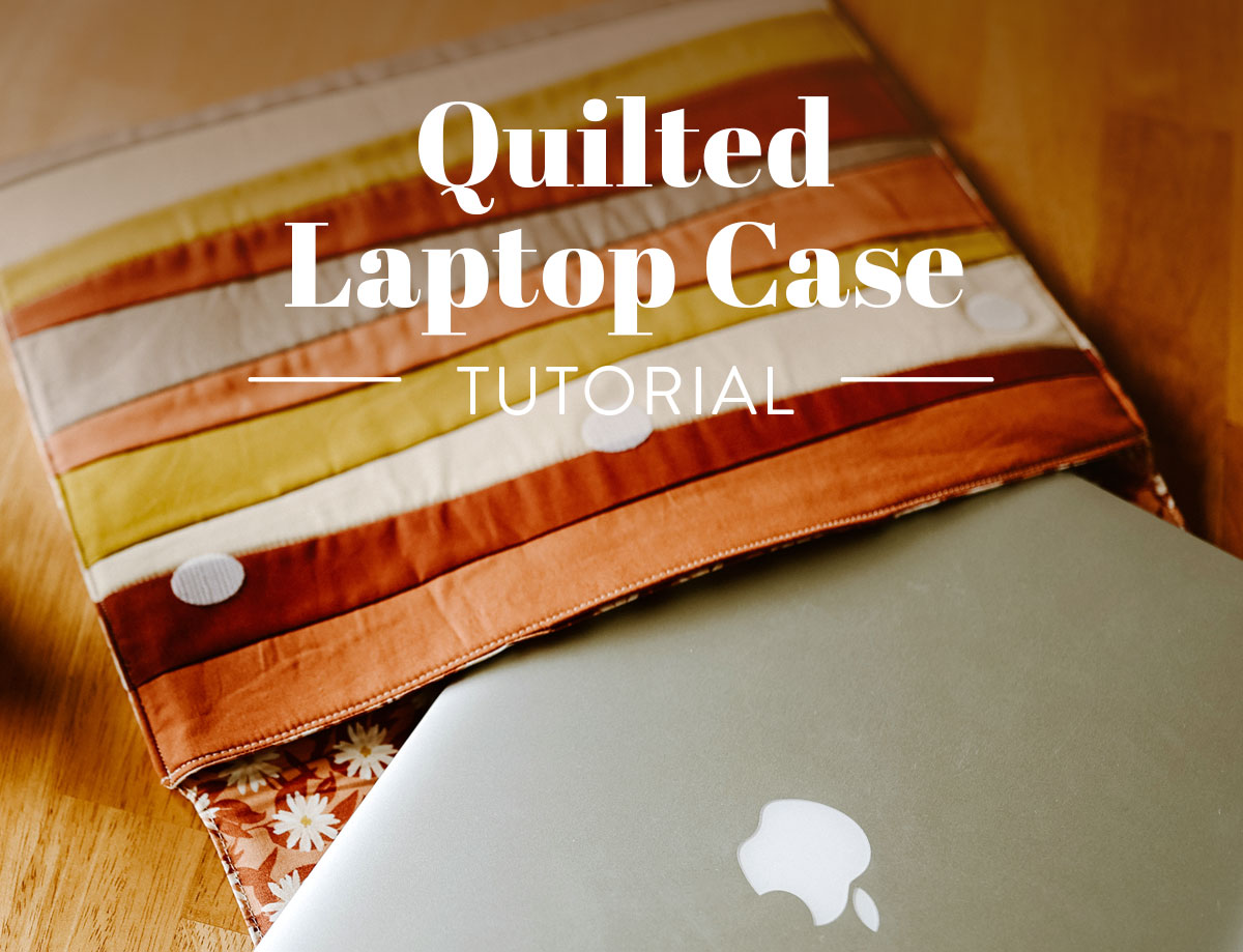 Learn to sew a beginner-friendly quilted laptop case in this tutorial featuring the Shine quilt block by Suzy Quilts. suzyquilts.com