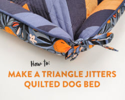 How to Make a Triangle Jitters Quilted Dog Bed