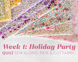 Holiday Party Quilt Sew Along Week 1: Pick & Cut Fabric