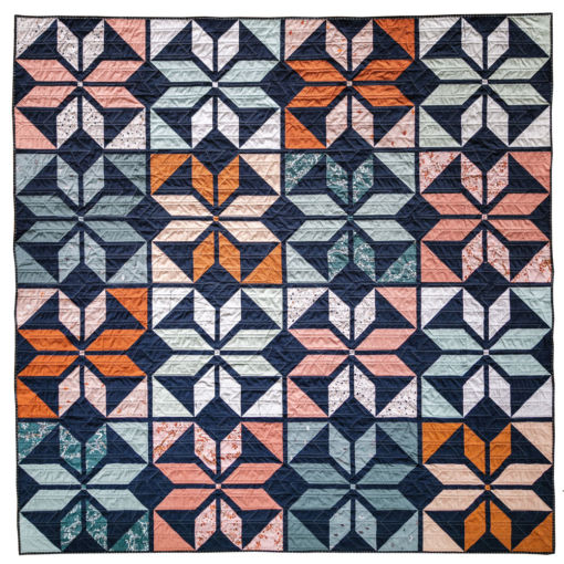 """Beautiful fall inspired fabric to make a 77"""" x 77"""" Holiday Party quilt top. Made with 100% Art Gallery Fabrics of the softest quality."""