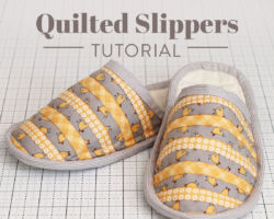 Free Quilted Slippers Tutorial