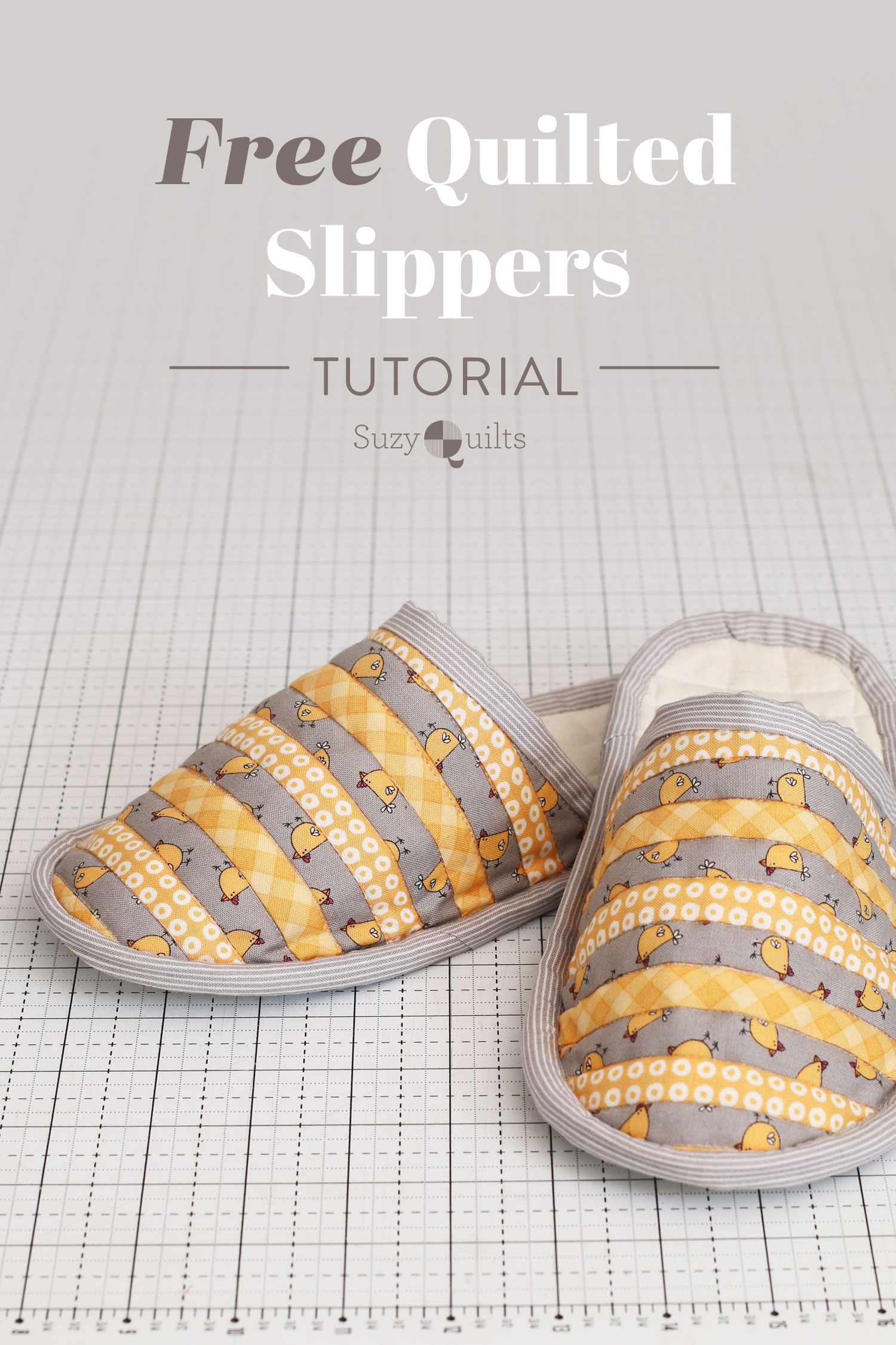 Learn everything you need to know to make a pair of quilted slippers that are just your size in this beginner-friendly photo tutorial! suzyquilts.com